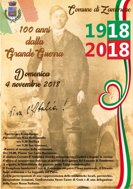 Zambrone celebra il 4 novembre