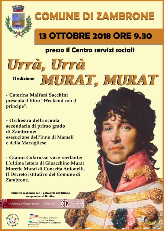 Zambrone ricorda re Gioacchino Murat