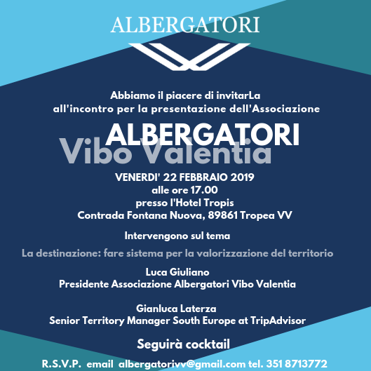 Rete, innovazione e crescita i temi dell'incontro dell'Associazione Albergatori di Vibo Valentia
