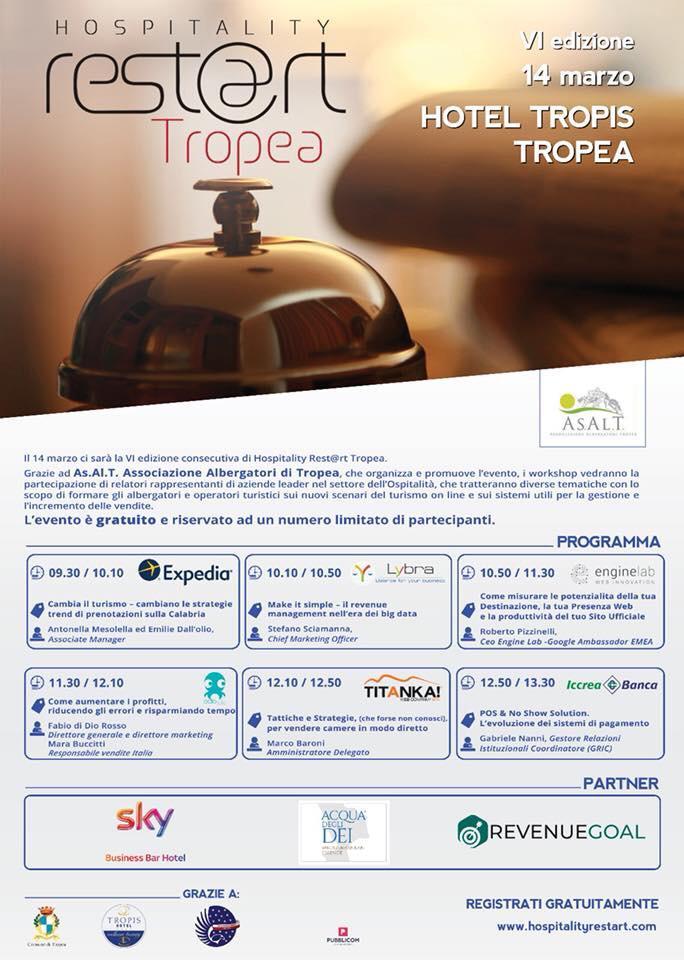 Grande attesa per la VI edizione di Hospitality Rest@rt Tropea