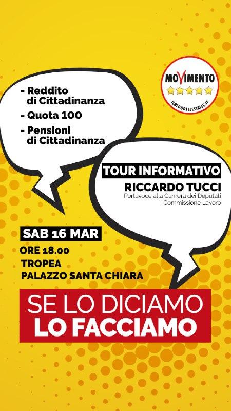 Reddito di cittadinanza: l'on. Riccardo Tucci del M5S lo spiega a Tropea