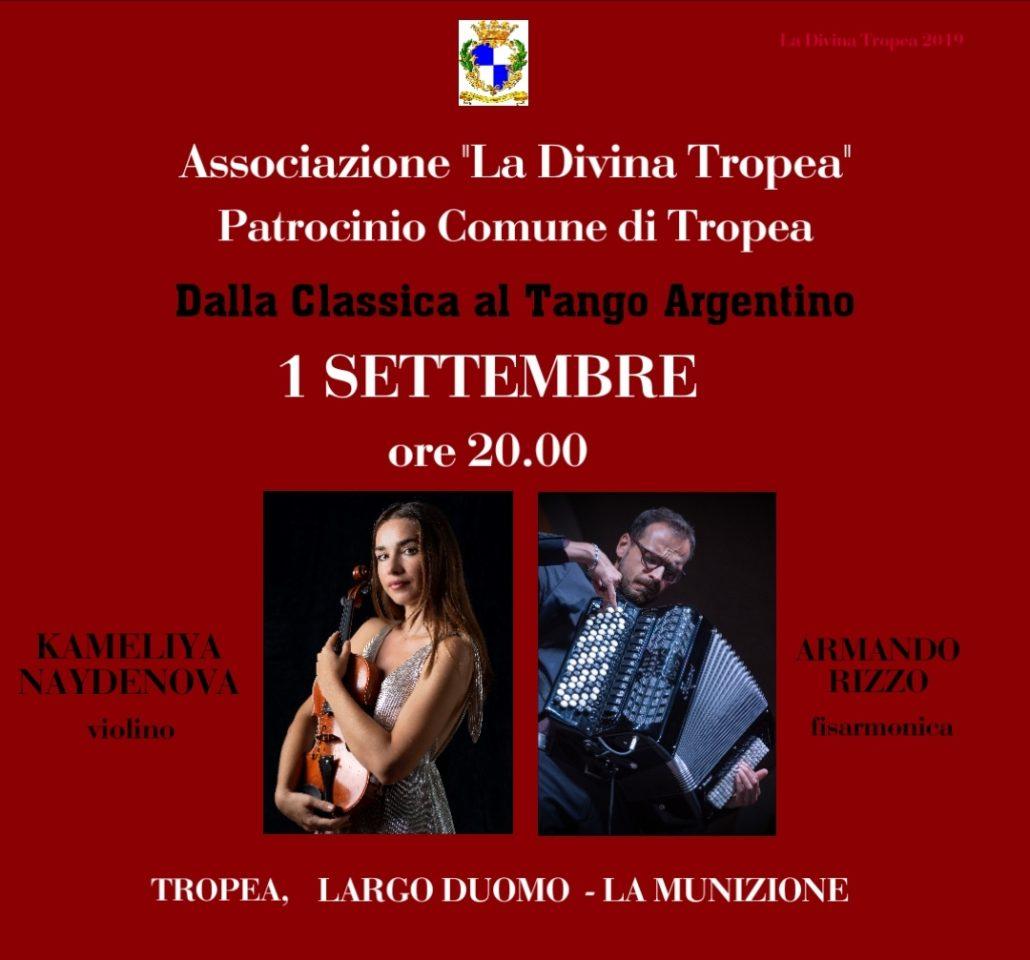 Dalla classica al Tango: Kameliya Naydenova e Armando Rizzo in concerto a Tropea