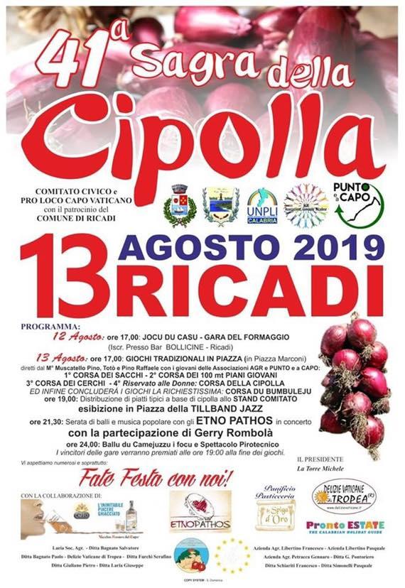 """A Ricadi la cipolla di Tropea va in """"sagra"""""""