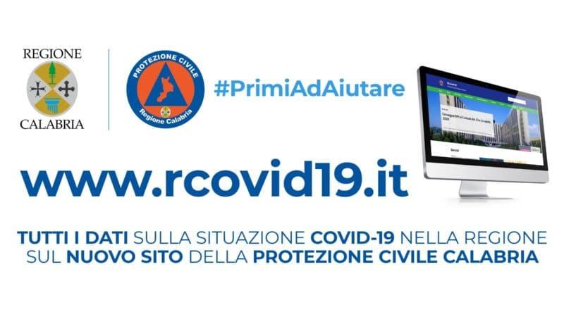 Regione Calabria e Protezione Civile: creato un sito web dedicato all'emergenza Covid-19