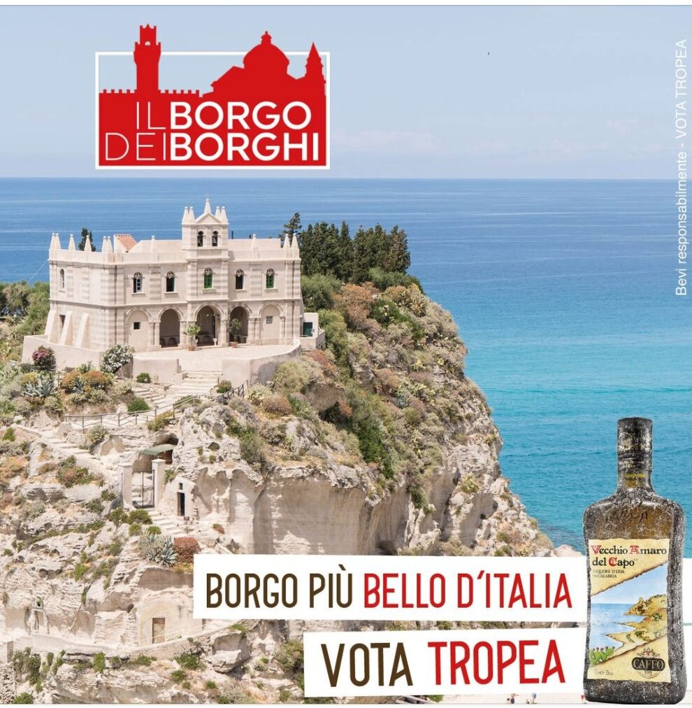 Vecchio Amaro Del Capo fa il tifo per Tropea come Borgo più Bello d'Italia