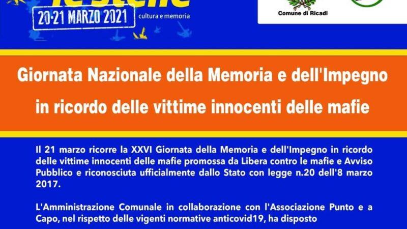 comune di ricadi e la commemorazione vittime di mafia