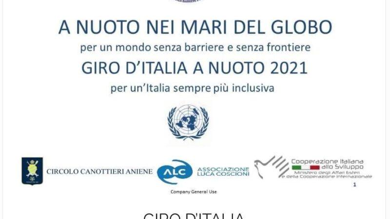 Tropea-Capo Vaticano tappa del Giro d'Italia a nuoto 2021, per un'Italia sempre più inclusiva