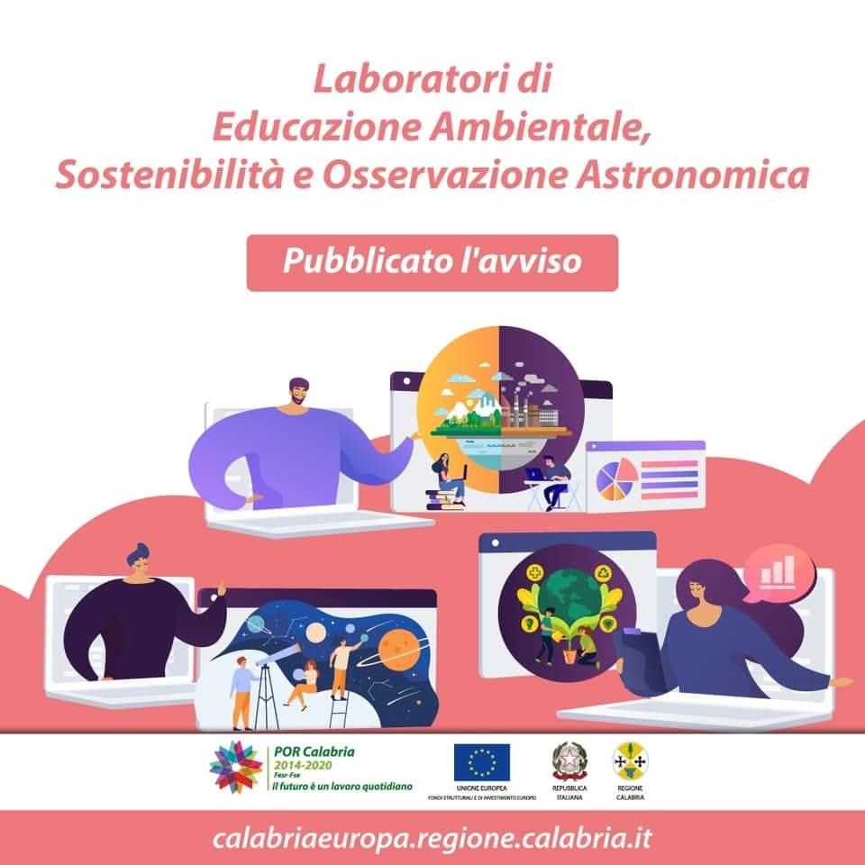 Online bando della Regione Calabria dedicato alle scuole calabresi