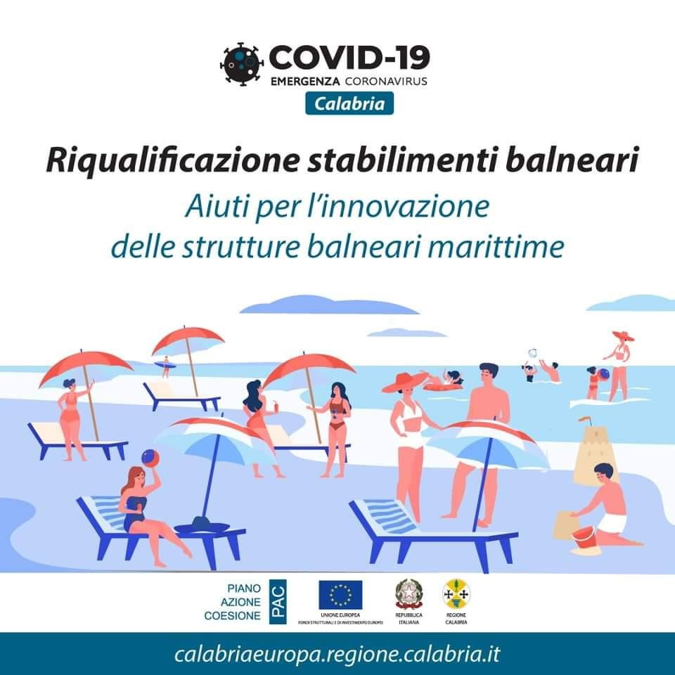 Regione Calabria: avviso in preinformazione rivolto alle strutture balneari