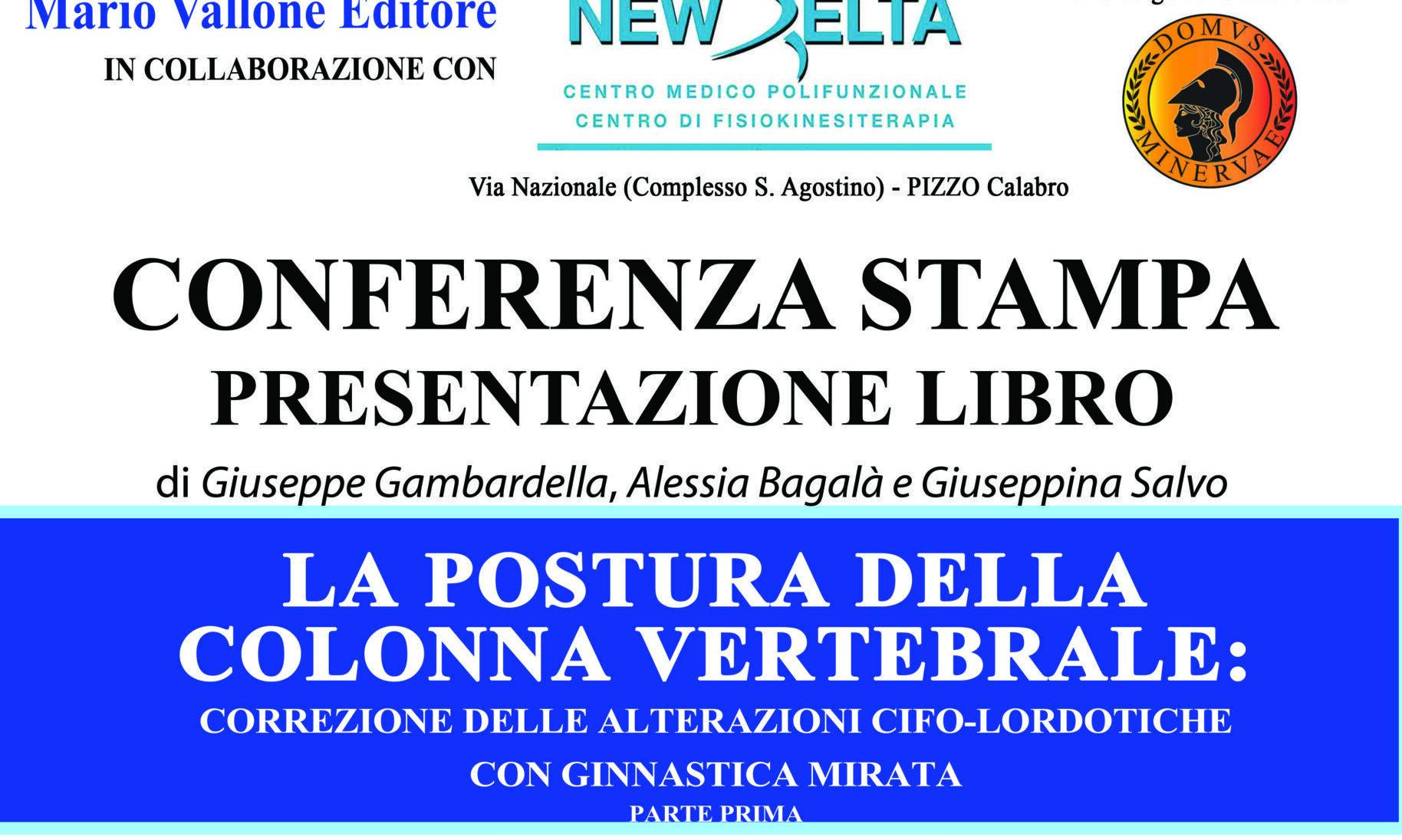 La salute della colonna vertebrale, presentazione del libro dei medici del New Delta di Pizzo