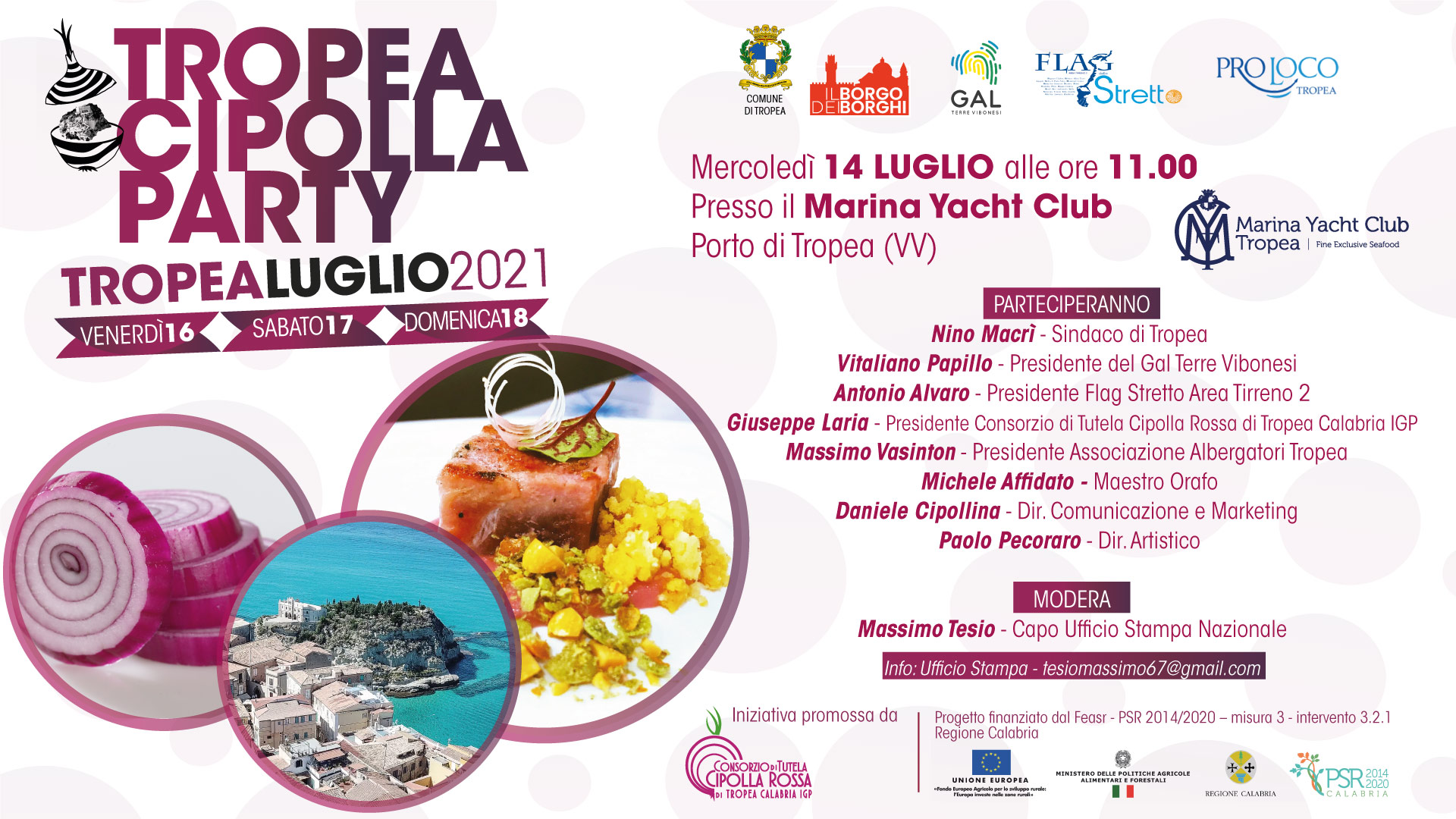 """Tropea si prepara alla terza edizione del """"Cipolla Party"""". Mercoledì 14 luglio la conferenza stampa"""