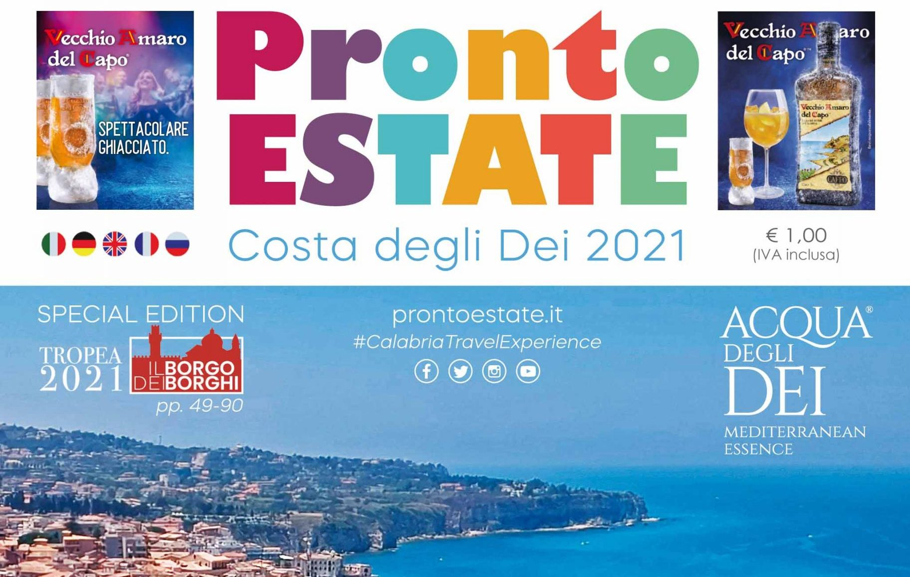"""""""Pronto Estate 2021"""": anche quest'anno pubblicata la guida turistico-informativa multilingua più seguita della Calabria"""