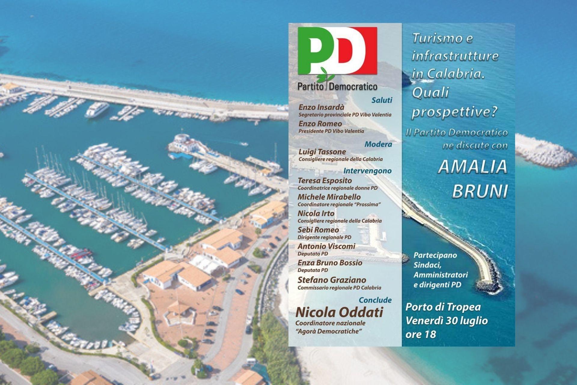 """""""Turismo e infrastrutture in Calabria"""": il Pd lancia da Tropea la sua proposta di sviluppo"""