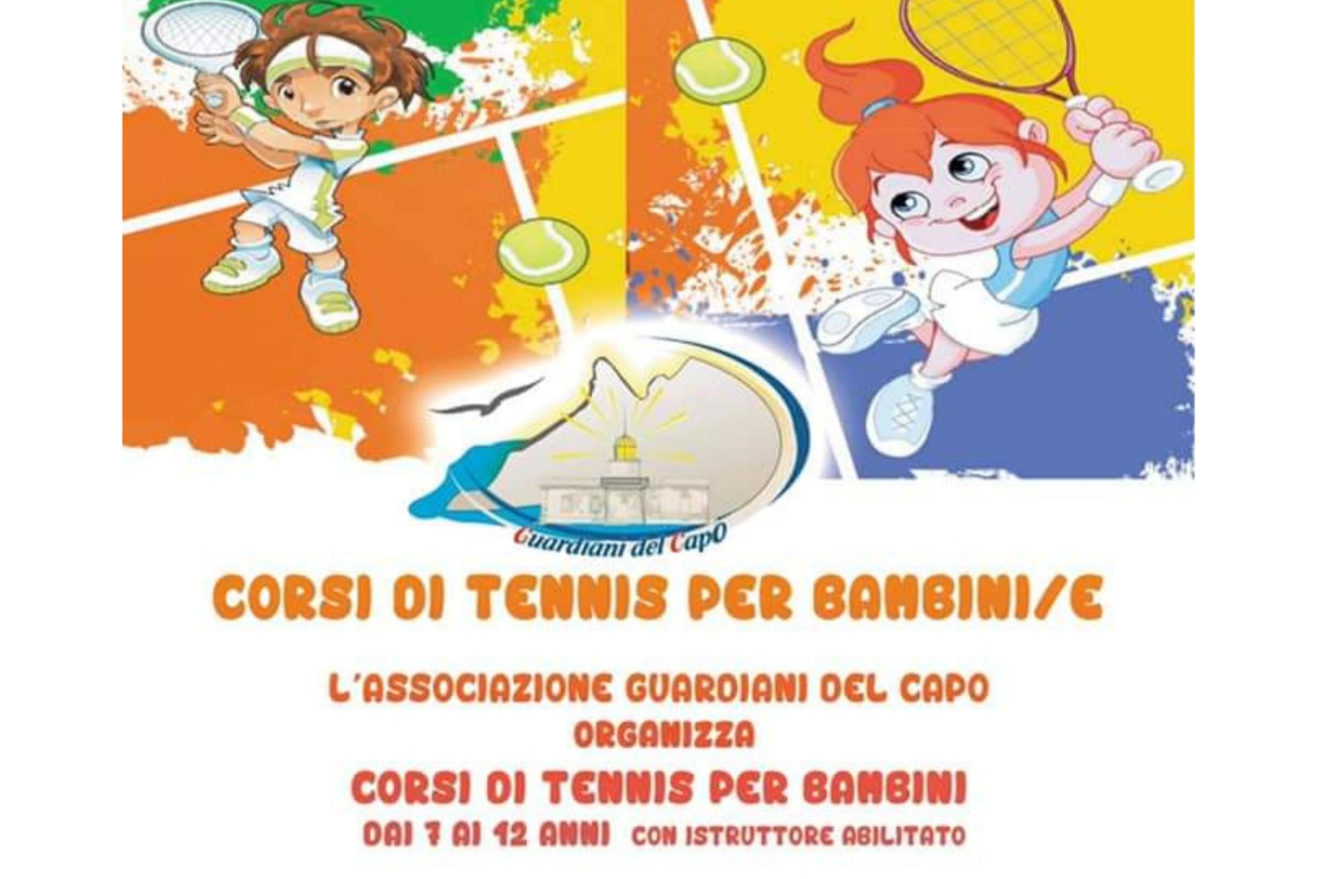 """I """"Guardiani del Capo"""" organizzano corsi di tennis per bambini"""