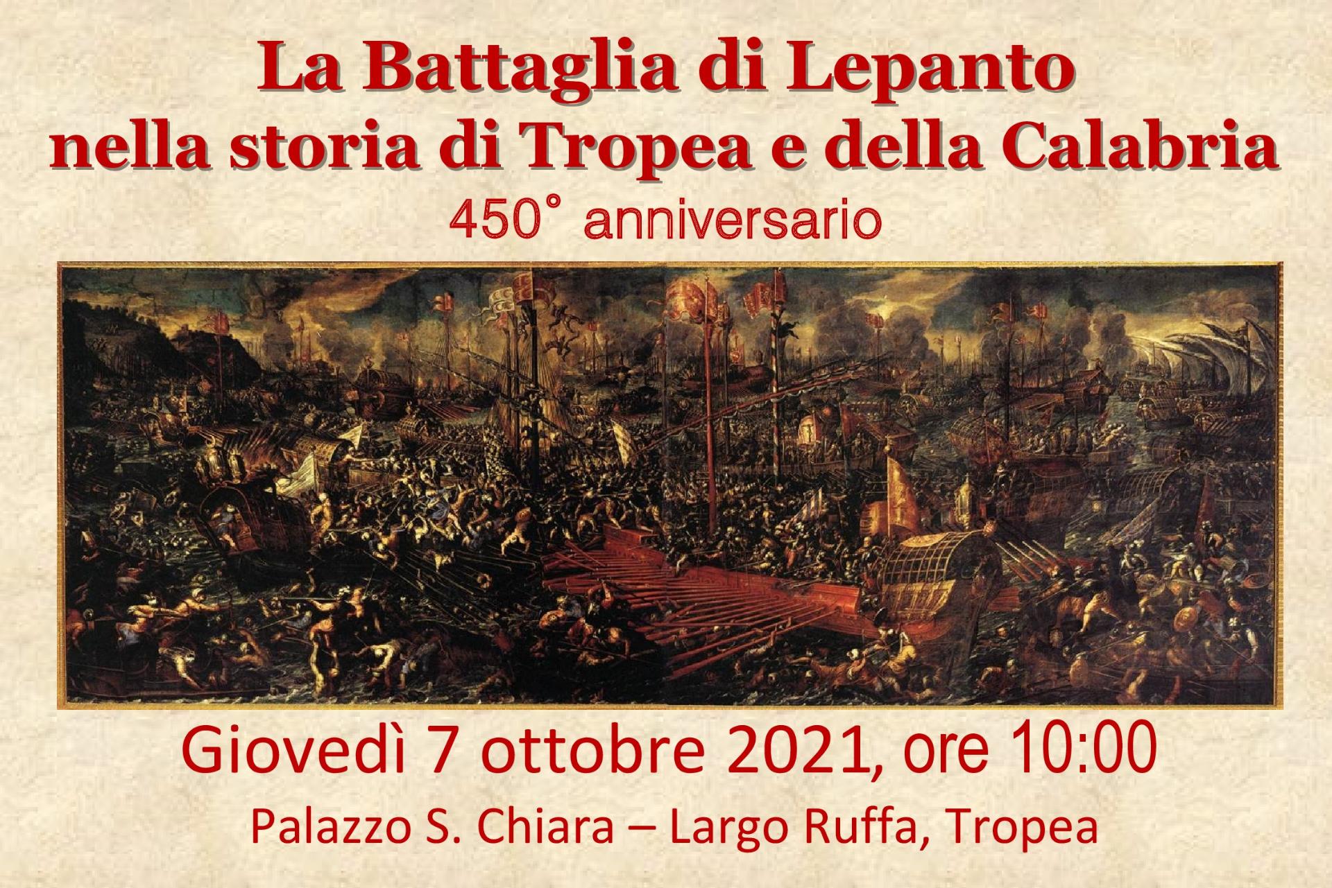 Tropea si racconta: il 450° anniversario della battaglia di Lepanto