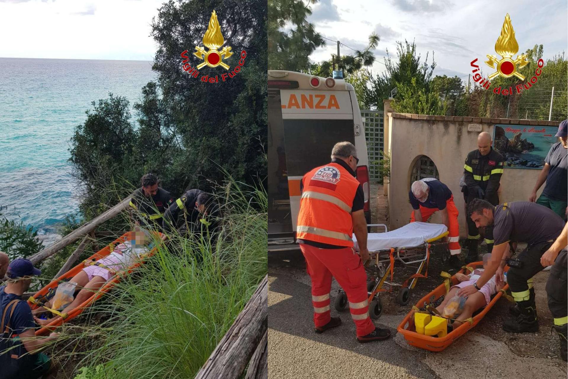 """Turista ferita presso il """"Paradiso del Sub. Intervento dei Vigili del fuoco"""